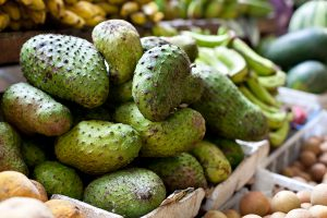 Soursop fruit for sale at a local market